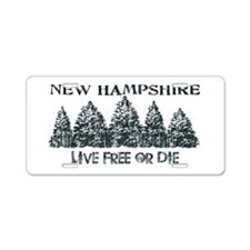 live Free Or Die license Plates on sports car plates