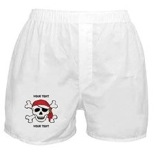 PERSONALIZE Funny Pirate Boxer Shorts