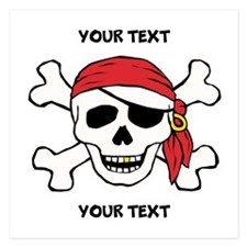 PERSONALIZE Funny Pirate 5.25 x 5.25 Flat Cards