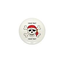 PERSONALIZE Funny Pirate Mini Button (100 pack)