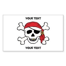 PERSONALIZE Funny Pirate Decal