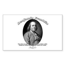 Benjamin Franklin 02 Rectangle Decal