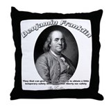 Benjamin Franklin 02 Throw Pillow