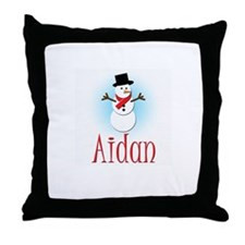 Snowman - Aidan Throw Pillow