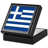 Greek Flag Keepsake Box