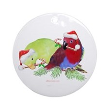 Parrots Christmas Ornament (Round)
