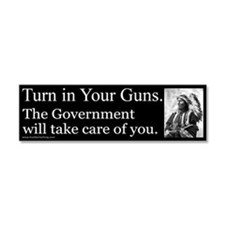Turn in Your Guns Car Magnet 10 x 3