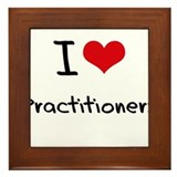 I Love Practitioners Framed Tile
