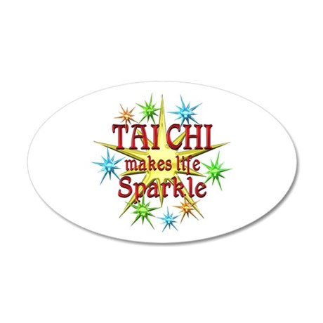 Tai Chi Sparkles 35x21 Oval Wall Decal