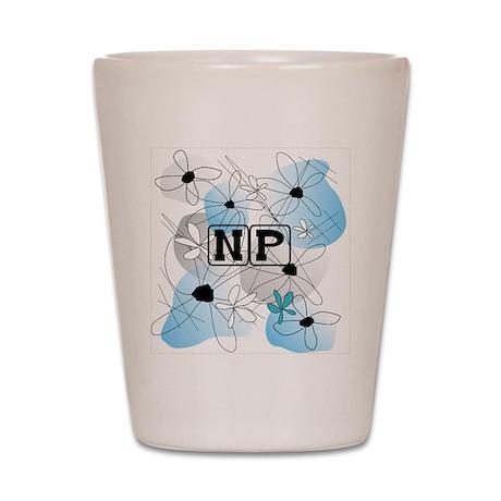 Nurse Practitioner Pillow blue Shot Glass