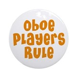 Oboe Players Rule Ornament (Round)