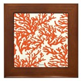 Coral Red Framed Tile