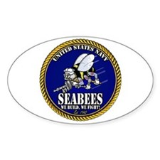 USN Seabees Gold Roped Decal
