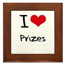 I Love Prizes Framed Tile