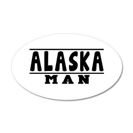 Alaska State Designs 35x21 Oval Wall Decal