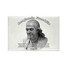Benjamin Franklin 04 Rectangle Magnet (100 pack)
