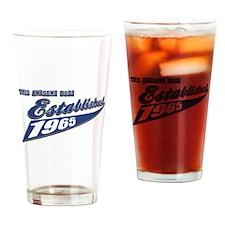 Established in 1965 birthday designs Drinking Glas
