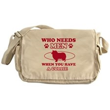 Funny Collie mommy designs Messenger Bag