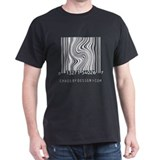 """twisted"" barcode design T-Shirt"