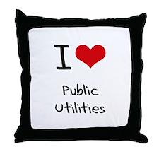 I Love Public Utilities Throw Pillow