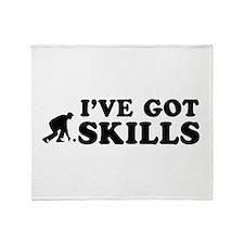 Lawnbowl got skills designs Throw Blanket