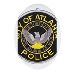 Atlanta Police Oval Ornament