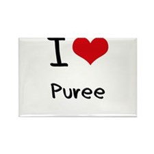 I Love Puree Rectangle Magnet