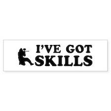 Paintball got skills designs Bumper Sticker