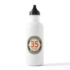 35th Birthday Vintage Water Bottle