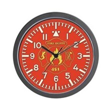 Fahrenheit 451 Fire Deptt Wall Clock