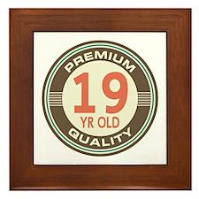 19th Birthday Vintage Framed Tile