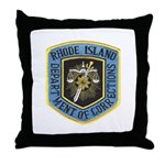 Rhode Island Corrections Throw Pillow