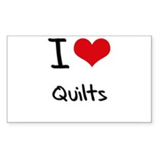I Love Quilts Stickers