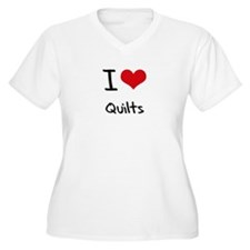 I Love Quilts Plus Size T-Shirt