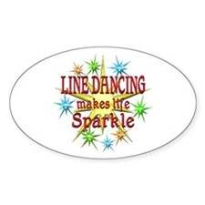 Line Dancing Sparkles Decal