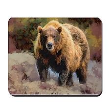 Camo Grizzly Bear Mousepad