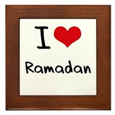 I Love Ramadan Framed Tile