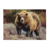 Camo Grizzly Bear 5'x7'Area Rug