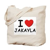 I love Jakayla Tote Bag