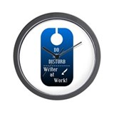 Do Not Disturb Writer At Work Wall Clock