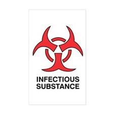 """Infectious"" Rectangle Decal"