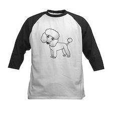 Cute White Poodle Baseball Jersey