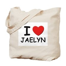 I love Jaelyn Tote Bag