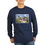 Missouri Greetings (Front) Long Sleeve Dark T-Shir