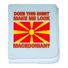 Macedonian flag designs baby blanket
