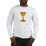 The Celtic Grail Long Sleeve T-Shirt - Wht/Gr
