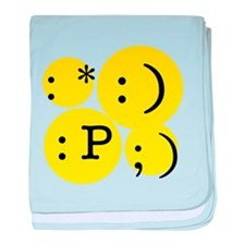 Text Emotions baby blanket