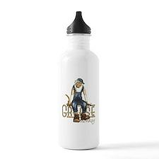 Funny Grease Monkey Mechanic Water Bottle