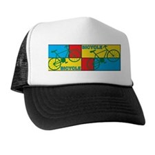 Color Block Bike Trucker Hat