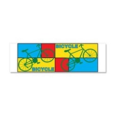Color Block Bike Car Magnet 10 x 3